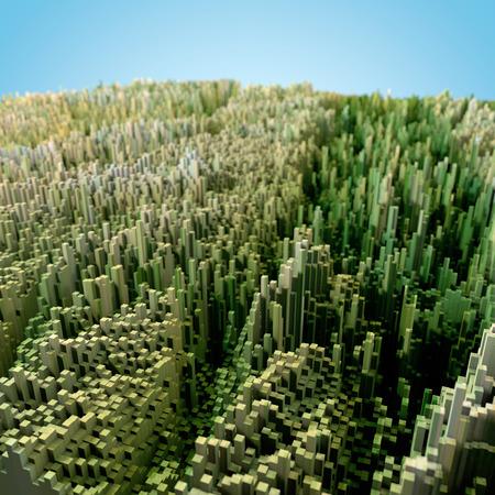 topology: 3D Render Of Terrain Topology Map Stock Photo