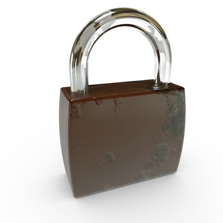 old padlock: 3D Old Padlock Isolated