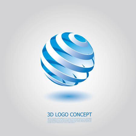 round logo: 3D Logo Concept