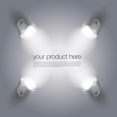 expose: Scene With Spot Lights To Expose Your Product