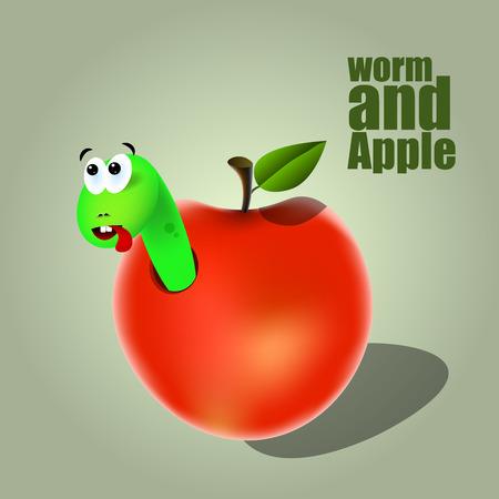 creep: Green Worm In Apple