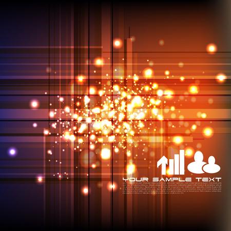 orange background: technology abstract background Illustration