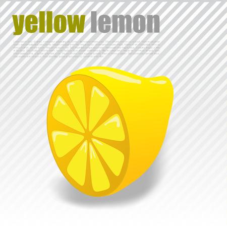 Yellow Lemon Cross-Section