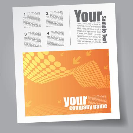 magazine: Technology Magazine Template Illustration
