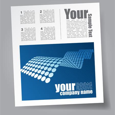 magazine template: Technology Magazine Template Illustration