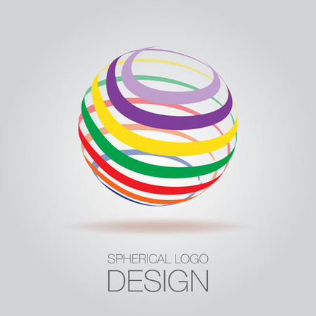 spherical: Spherical Logo Concept Illustration