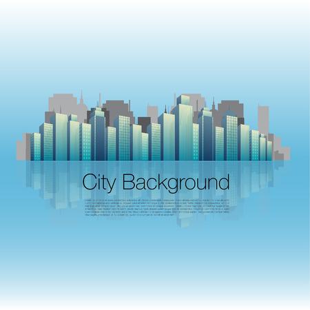 glass reflection: Glossy City Background