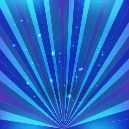 Blue Rays Background Illustration