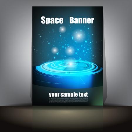 Blue Futuristic Banner