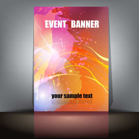 Colorful Event Banner with space for text. Ilustração