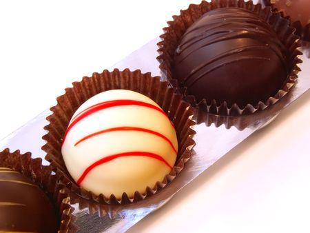white and dark chocolates