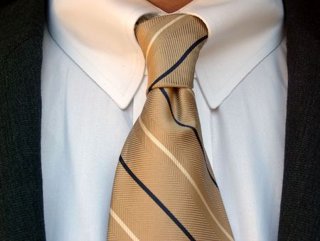 ビジネスの男のシャツとネクタイ 写真素材