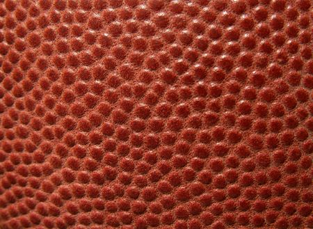football leather macro photo