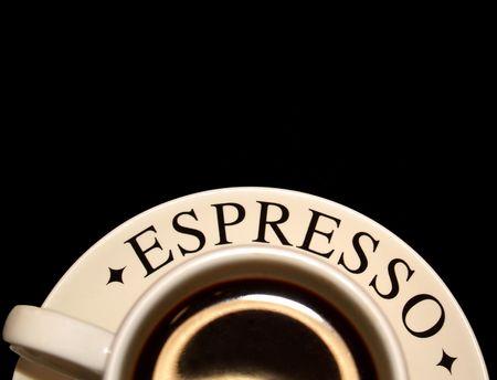 下端にエスプレッソのカップ
