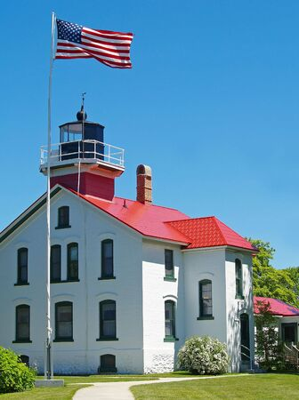 Grand Traverse Lighthouse in Northport, Michigan photo