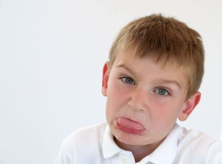 young boy making a silly face Banco de Imagens - 529460