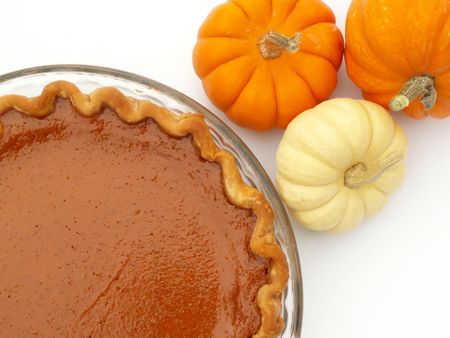 pumpkin pie: Thanksgiving pumpkin pie and mini pumpkins