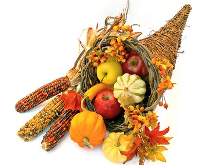 cornucopia for Thanksgiving or Fall photo