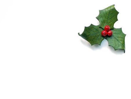 人工ホーリーと赤い果実のクリスマス 写真素材