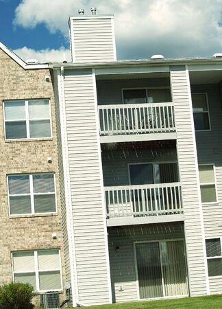 a section of balconies from an apartment complex