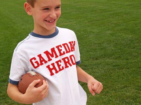 サッカー少年 写真素材