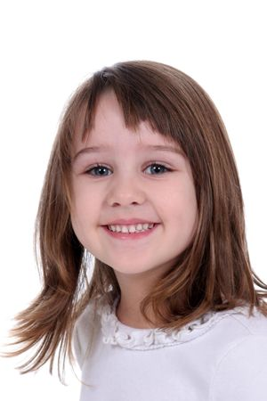 Pretty little girl with a twinkle in her eyes. photo