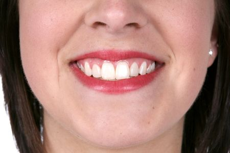 close up of a pretty smile and great skin Stock Photo - 3239530