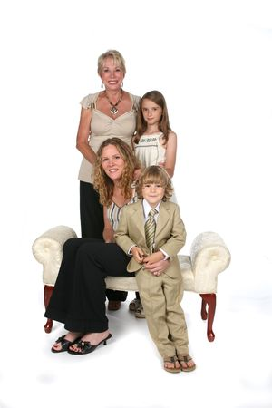 mother, children, and grandmother Stock Photo - 3403512