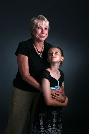 portrait of woman and her granddaughter photo