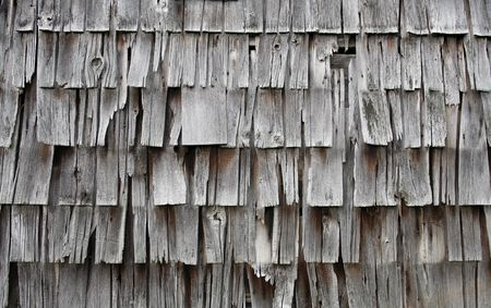 gray or silver colored old, faded, weathered shingles or siding 스톡 콘텐츠