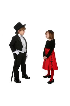 cute children in formal holiday clothing photo