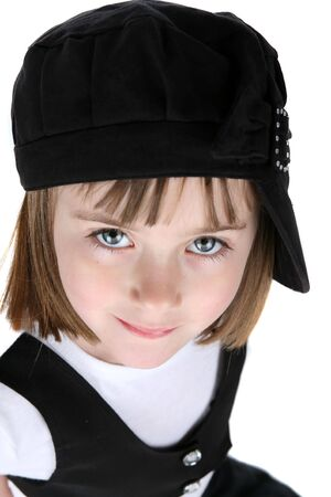 close up of funky girl with black hat