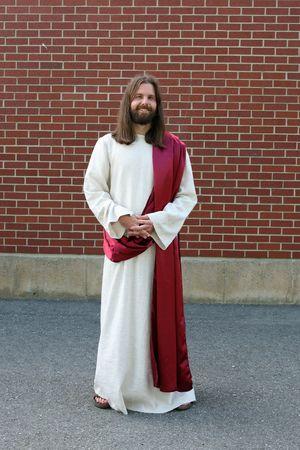 Man in Jesus Christ robe and sash photo