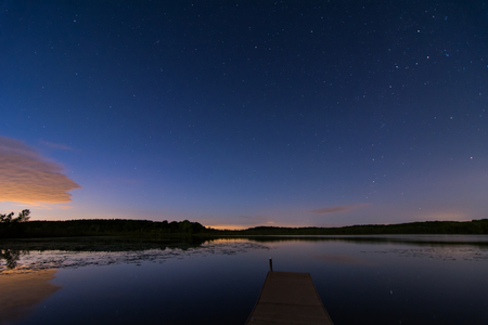 wisconsin: Wisconsin Lake at Night Stock Photo
