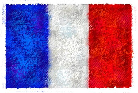 french flag: Drawing of the flag of France