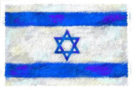 이스라엘의 국기 스톡 콘텐츠