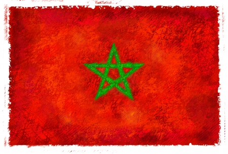 Drawing of the flag of Morocco Stock fotó