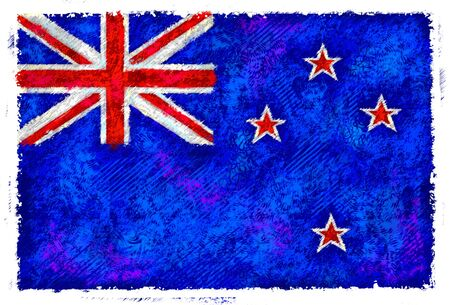 Drawing of the flag of New Zealand