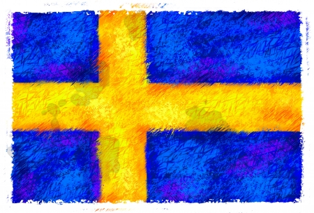 sweden flag: Drawing of the flag of Sweden