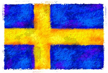 sweden flag: Drawing of the flag of Sweden