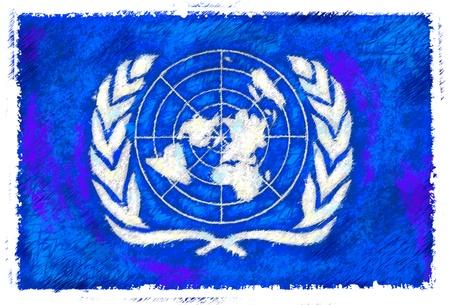 nazioni unite: Disegno della bandiera delle Nazioni Unite