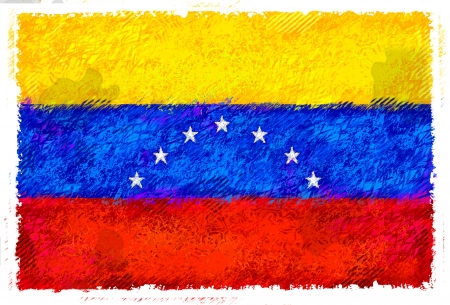 Drawing of the flag of Venezuela Stock Photo - 14853177