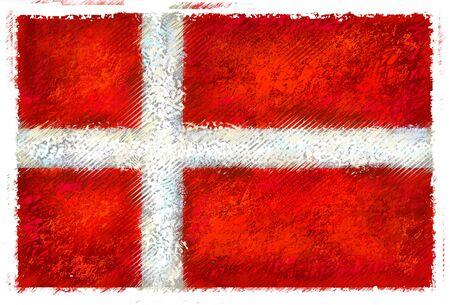 デンマークの旗の図面