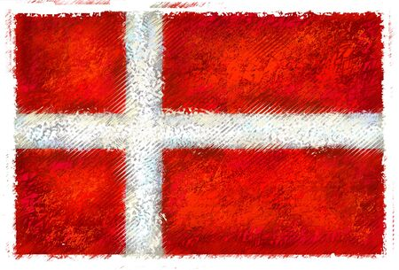 Drawing of the flag of Denmark