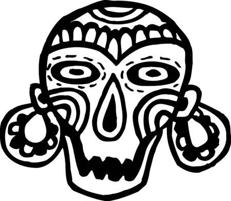 Skull with earrings