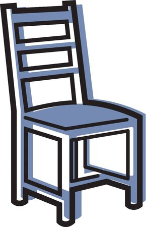 Illustratie van een stoel