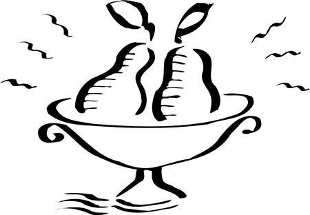 chalices: Illustration of a couple of pears