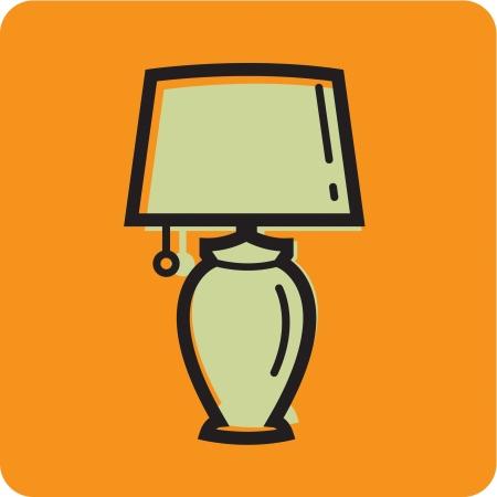 オレンジ色の背景のランプの図