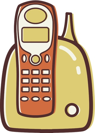 Illustration of a cordless phone Stock Illustration - 14864926