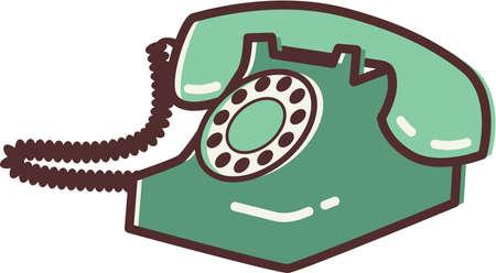 telephone: Illustration of a retro phone